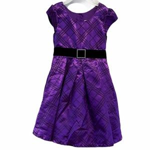 Jona Michelle purple metallic look dress 4